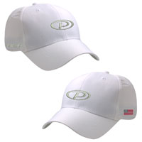 WHITE STRUCTURED MID FIT CAP
